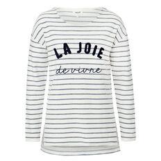 Textured Slogan Sweater