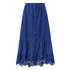 Lace Button Through Skirt