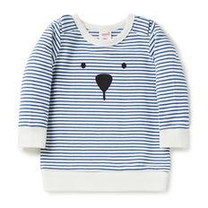 Bear Stripe Crew Sweater