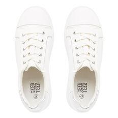 White Platform Lace Sneaker