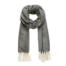 Black & White Weave Scarf