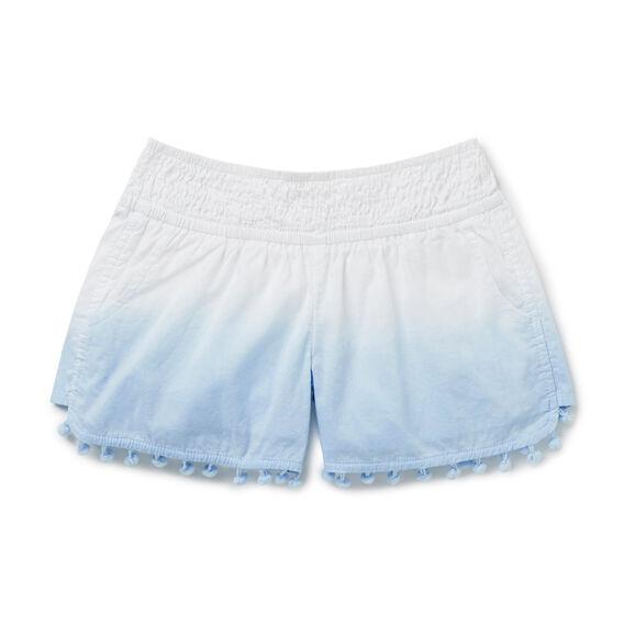 Dip-Dye Pom Pom Shorts