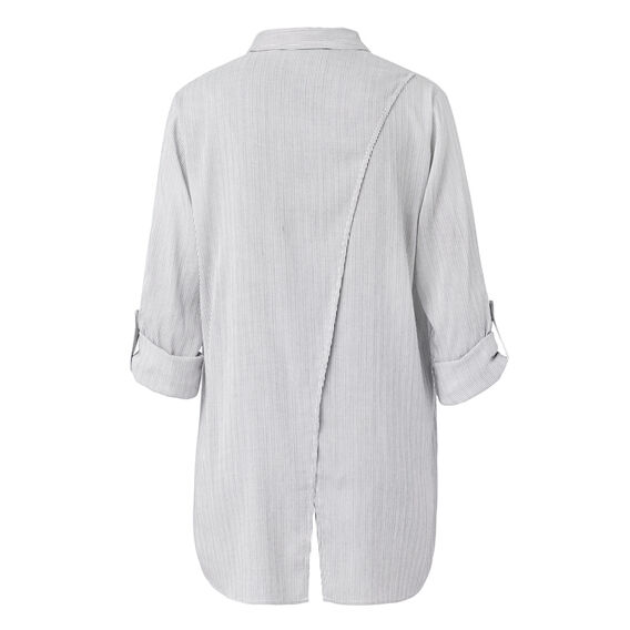 Mini Stripe Longline Shirt