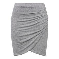Linen Blend Twist Skirt