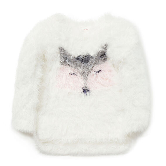 Fluffy Racoon Sweater