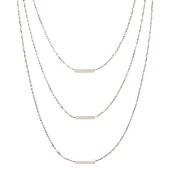 Trio Layer Short Necklace