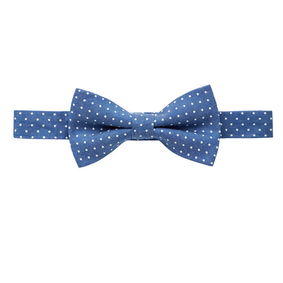 Chambray Spot Bow Tie