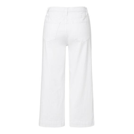 White Denim Culotte