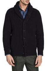 Fisherman Navy Shawl Cardi, , hi-res