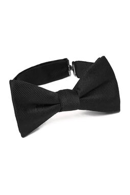 Mauricio Black Self Bow Tie, , hi-res