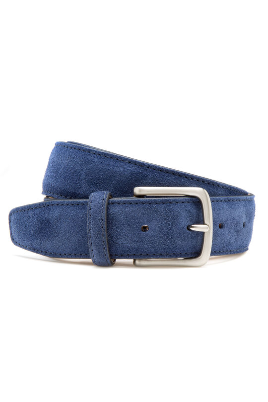 Spumoni Navy Suede Belt, , hi-res