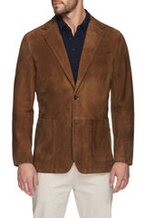 Jack Tan Leather Blazer, , hi-res