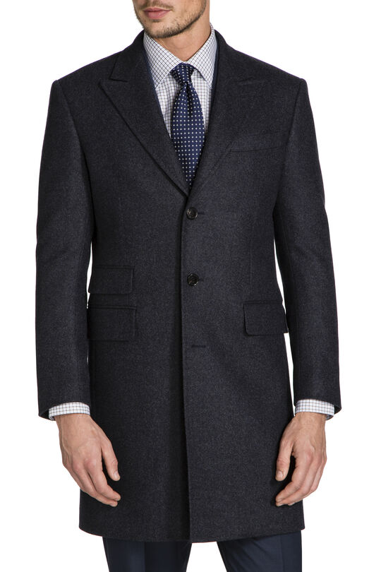 Rodney Charcoal Overcoat, , hi-res