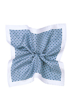 Meril White/Blue Hankie