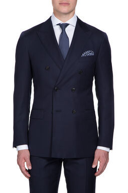 Saunders Navy DB Slim Jacket, , hi-res