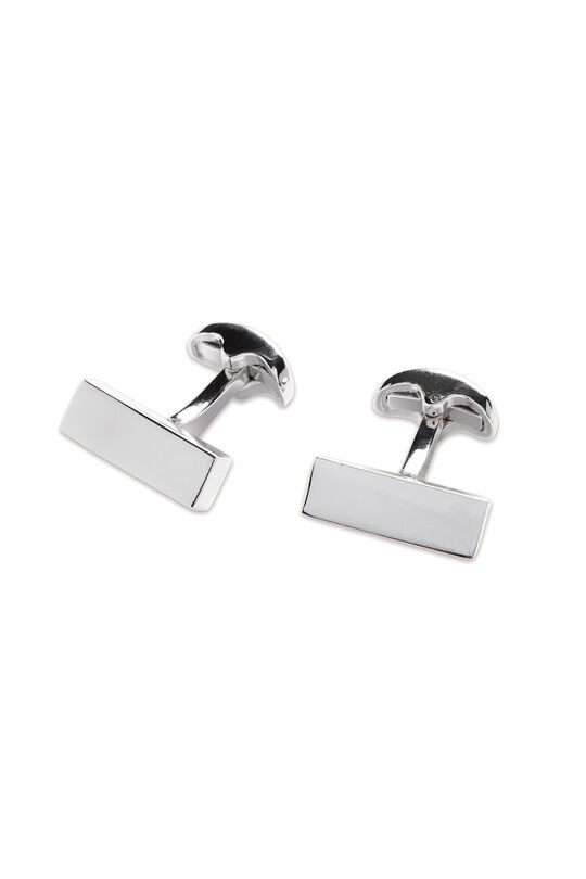 Ford Block Rhodium Cufflink, , hi-res