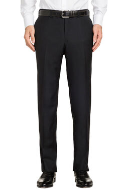 Saunders Black Slim Trouser, , hi-res