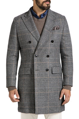Crombie Charcoal Coat, , hi-res