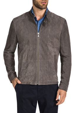 Vancouver Grey Leather Jacket, , hi-res