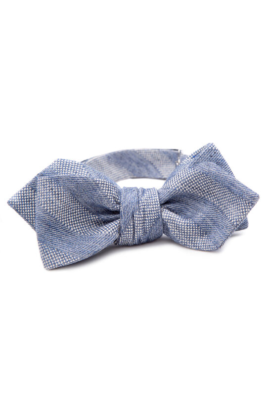 Flavio Grey Bow Tie, , hi-res
