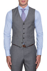 Oxley Light Grey Waistcoat, , hi-res