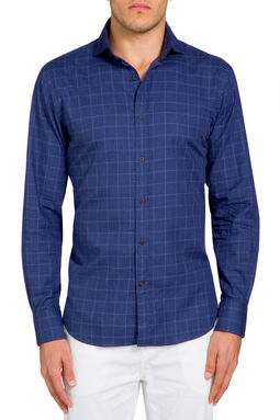 Ottavio Navy Check Shirt