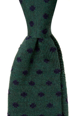 Farro Green Knitted Tie, , hi-res