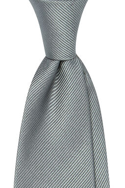 Mauricio Grey Plain Tie-Grey-Onesize, , hi-res