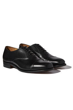 London Black Oxford Shoes, , hi-res