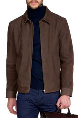 H.Humes Choc Leather Jacket-Chocolate-S, , hi-res