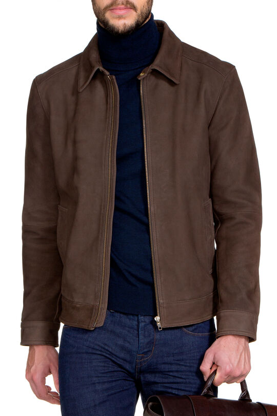 H.Humes Choc Leather Jacket, , hi-res