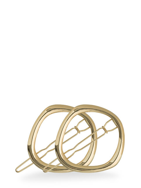 Metallic Geometric Round Clips - Pk 2