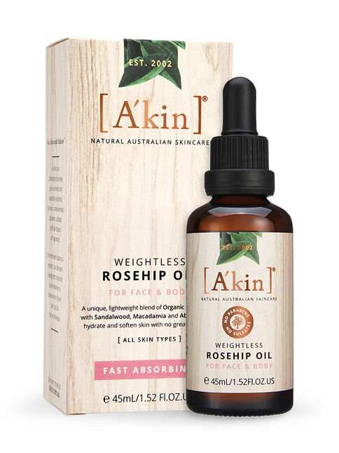 Weightless Rosehip Oil For Face and Body 45ml