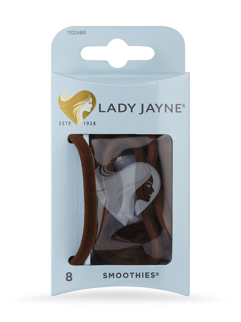 Smoothies Brown Luxury Elastics - 8 Pk
