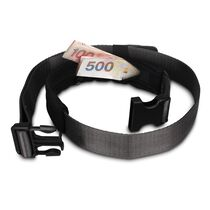 Cashsafe 25 anti-theft deluxe travel belt wallet, Black