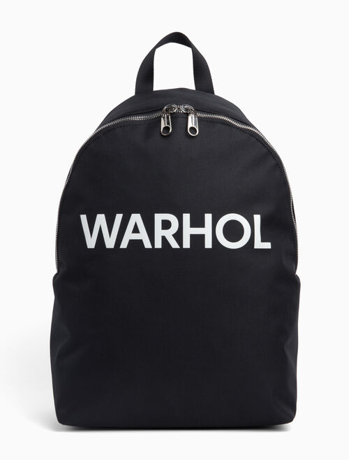 CALVIN KLEIN ANDY WARHOL LOGO BACKPACK