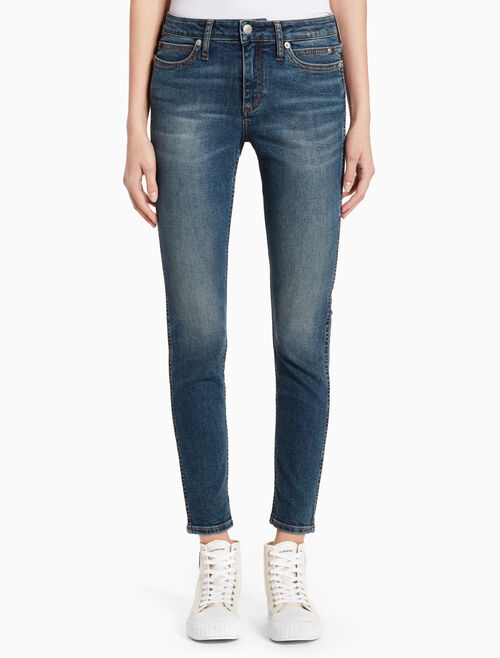 CALVIN KLEIN BOOBERA BLUE SCULPTED SKINNY ANKLE JEANS