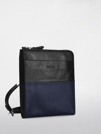 CALVIN KLEIN ENGINEER CASUAL TWO-TONE COLOR CROSSBODY