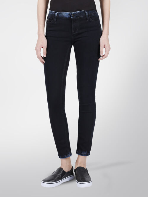 CALVIN KLEIN ACID WASH MID RISE SKINNY JEANS