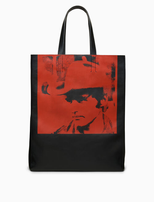 CALVIN KLEIN soft nappa leather dennis hopper tote