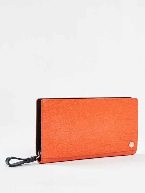 CALVIN KLEIN TEXTURE AURA LONG ZIP AROUND WALLET