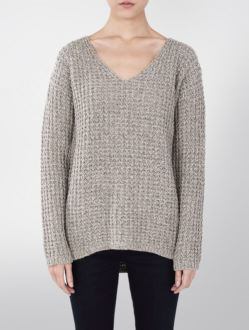 CALVIN KLEIN CLAIRE CHUNKY KNIT SWEATER