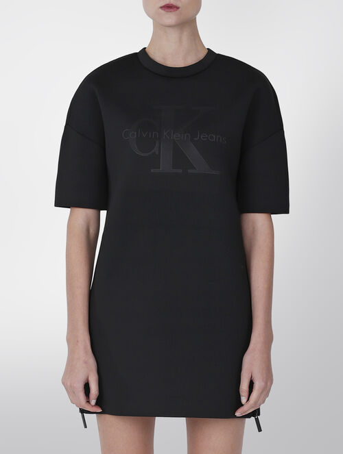CALVIN KLEIN NEOPRENE TEE DRESS