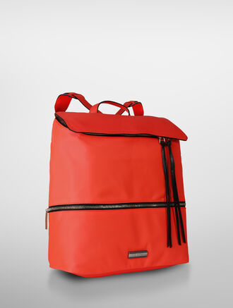 CALVIN KLEIN UTILITY NYLON CITY FLAP BACKPACK