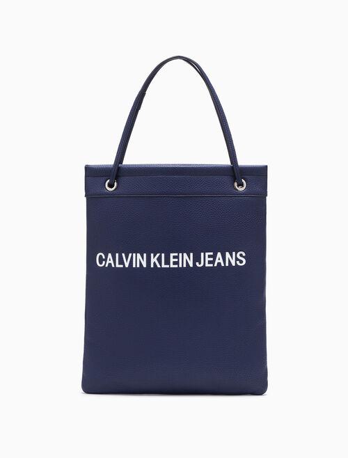 CALVIN KLEIN Pebble Essentials フラットトートバッグ