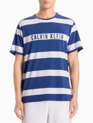 CALVIN KLEIN ストライプ付きショートスリーブ T シャツ