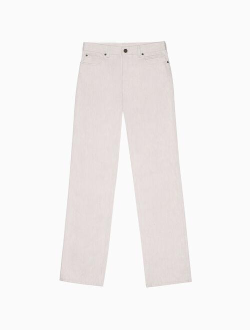 CALVIN KLEIN high rise straight leg jeans