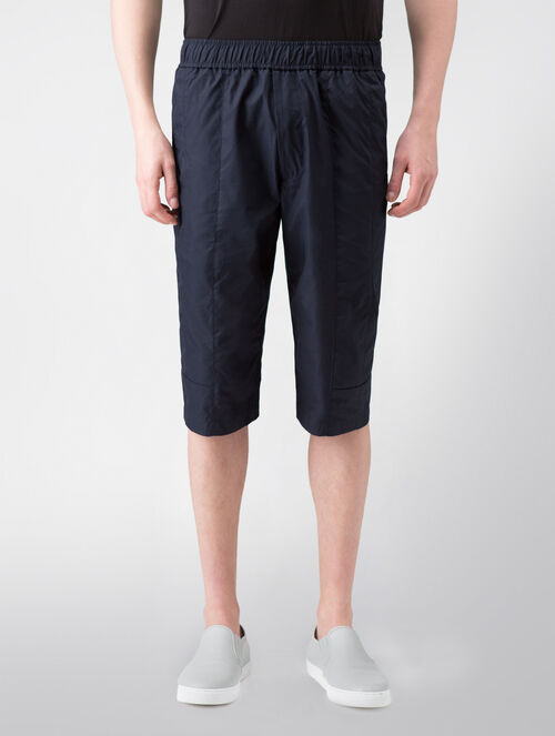 CALVIN KLEIN HEAVY POPLIN DRAWSTRING SHORTS WITH LUSTER MILANO TRIM( PHILIP FIT )