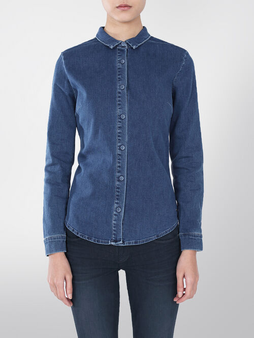 CALVIN KLEIN ANEHA SLIM FIT DENIM SHIRT
