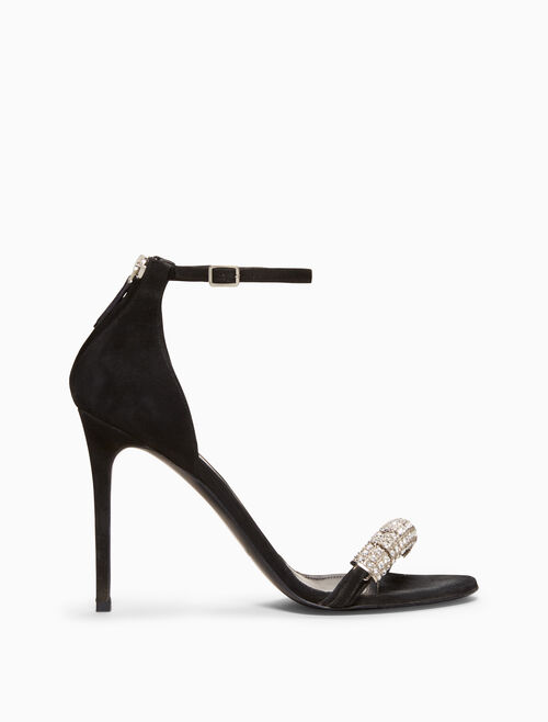 CALVIN KLEIN high-heeled sandal in suede